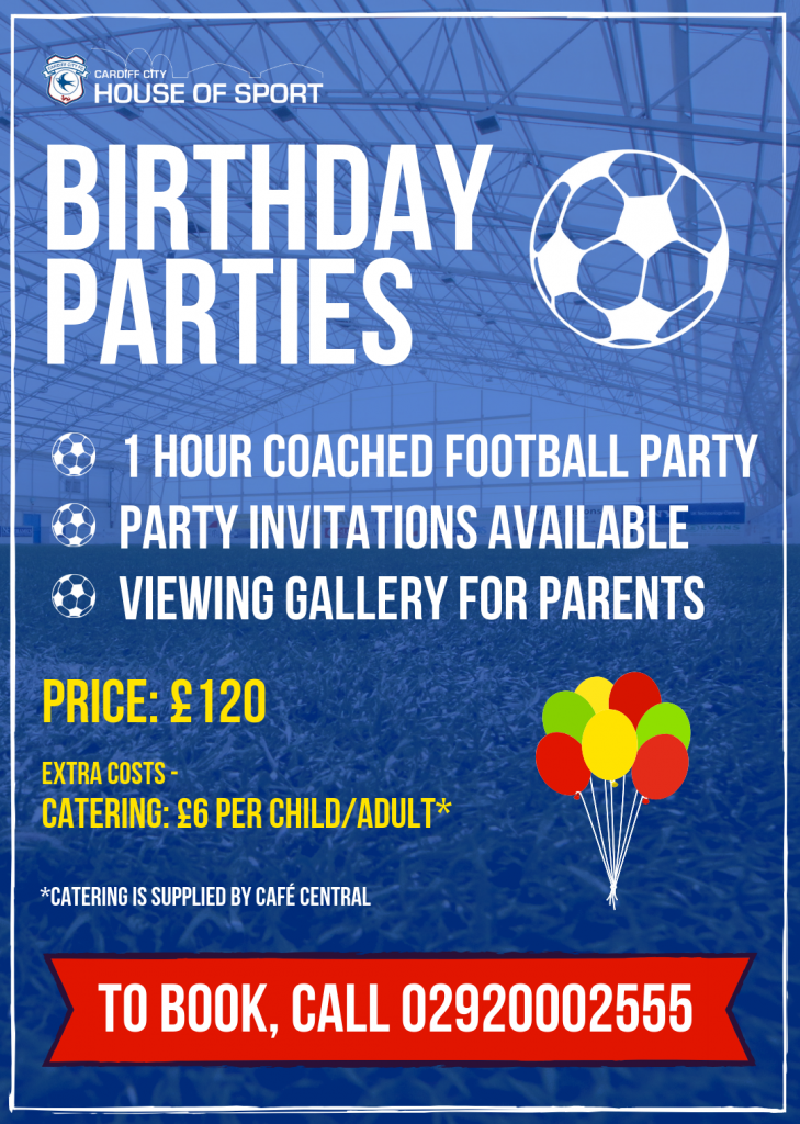 1 hour coached football partyparty invitations availableviewing gallery for parents